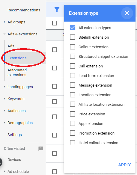 Use Every Relevant Ad Extension.